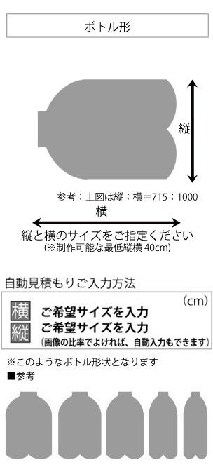変形ラグマットサイズオーダーのサイズ指定方法