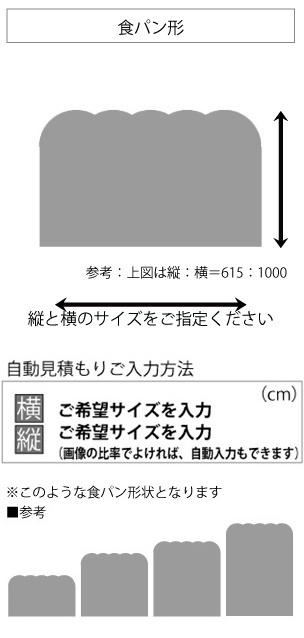 変形ラグマットサイズオーダー(食パン形)